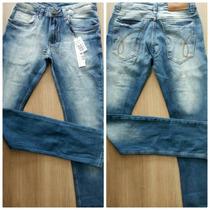 Calça Jeans Masculina Calvin Klein Skinny Com Lycra Ref 955
