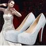 Sapato Strass Sexy Lindo -festa Ou Casamento-feito A Mão!