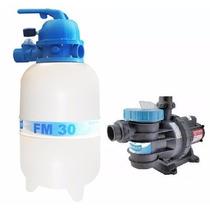Kit Filtro Fm 30 + Bomba Bm 25 Motor Weg 1/4 Cv Sodramar
