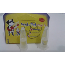 Pet-fest,ant-pulgas,carrapaticida,sarnicida P/cães Kit C/5