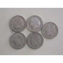 Monedas De 50 Centavos, Cuauhtémoc. (lote De 5 Piezas)