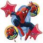 Spiderman Globo Del Ramo - Spider Man Globos - 5 Count