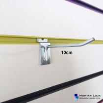 100 Ganchos 10cm Zincados Expositor Para Painel Canaletado