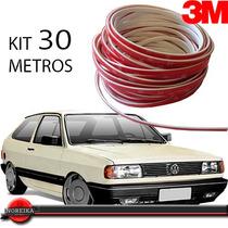 Kit Friso Filete Branco Parachoque Gol G1 Quadrado 30 Metros