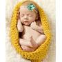 Casulo Cesto Para Bebê Em Croche Ensaio Fotográfico Newborn