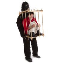 Traje Disfraz De Gorila Hombre En Jaula Fiesta Mediano
