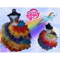 Rainbow Dash Pequeño Pony Disfraz Vestido Presentacion Xv
