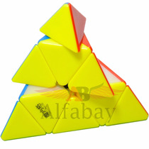 Cubo Profissional Pyraminx Qiyi - Mfg Mo Fang Ge Stickerless
