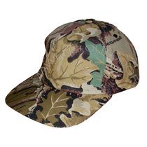 Gorra Camuflada Cap Forest Leather Táctica Camping Caza