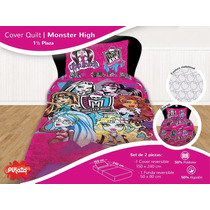 Set Sabanas Y Cover Monster High 1 1/2 Plazas Piñata