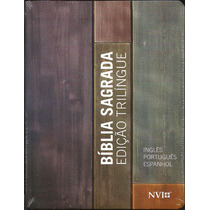 Biblia Sagrada Nvi Trilíngue (esp-ing-port) Neutra Pequena