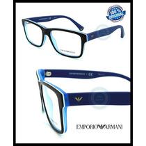 Armazon Oftalmico Emporio Armani Ea3059 Black - Matte Blue