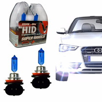 Par Lampada Super Branca Tipo Xenon H11 8500k 55w Homologado