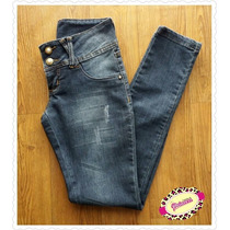 Calça Jeans Feminina Escura Skinny Justa Nova Cintura Baixa