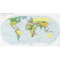 Lienzo Tela Mapa Político Mundial, 100 X 150 Cm, Educativo