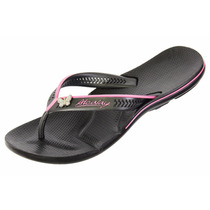 Calçados Alcalay Oficial, Chinelo Ch06, Preto/rosa