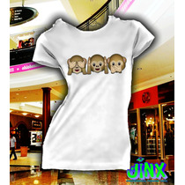 Playeras O Blusa 3 Monos Emoticon Whatssup 100% Algodon