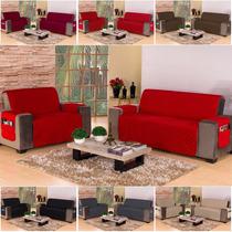 Capa Protetor Sofa 3 E 2 Lugares Microfibra Matelado Objetos