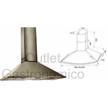 Campana De Cocina Tst Eclipse 75 Cm. Acero. Doble Turbina.
