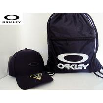 Boné Oakley Aba Curva Fechado + Bolsa Oakley
