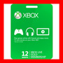 Membresía Xbox Live Gold 12 Meses.