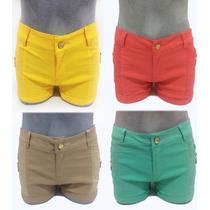 Shorts Jeans Hot Pants Lycra Cintura Super Alta Juju Panicat