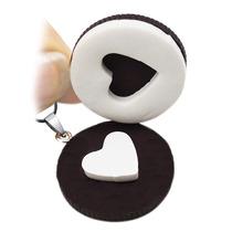 Collar Corazón Galleta Oreo Para Novios Pareja Amigos Kawaii