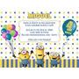 Minions Convites Aniversário 10x7cm + Envelopes 10 Unidades