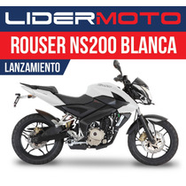 Bajaj Rouser 200ns - Blanca - Exclusivo Lidermoto! 4441-0485