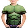 Camiseta Infantil Hulk Marvel Fantasia Coldplay Vingadores