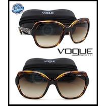 Lente Solar Gafas Vo2871s-1508 Dark Havana - Brown Gradient