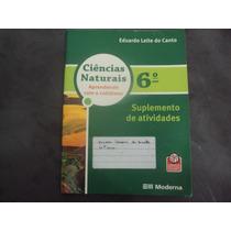 R/m - Livro Ciencias Naturais Suplemento De Atividades 6 Ano