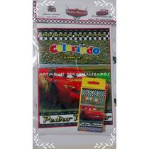Kit Colorir Carros Disney Com Giz De Cera ( Artmovie)