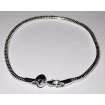 Pulsera Plata 925 Tipo Pandora Compatible Beads Charms Joyas