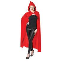 Caperucita Roja Disfraz - Adultos Larga Con Capucha Del Cabo