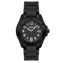 Relógio Zippo Black Face Pvd Stailess Steel Ban 45014