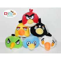 Kit Angry Birds Com 6 Personagens De Pelúcia Com 15 Cm