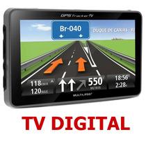 Gps Automotivo Multilaser 4.3 Polegadas Tv E Aviso De Radar