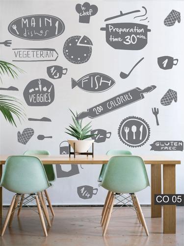 Vinilos Decorativos Para La Cocina Comedor - $ 595,80 en Mercado Libre