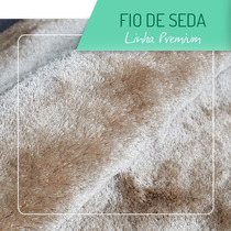 Tapete Luxo Fio De Seda 2x1.5m Bege 12x Sem Juros