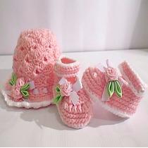 Sombreros Gorros Boinas Y Zapaticos A Crochet Para Bebés