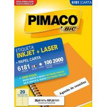Etiqueta Carta 6181 Pimaco Cx C/ 100 Folhas 2000 Etiquetas