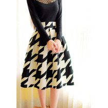 Falda Cuadros Vintage Moda Importada Japonesa