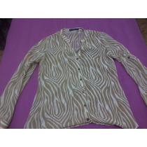 Camisa De Manga Longa, De Chiffon, Transparente.