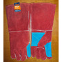 Guantes P/soldador Rojo Reforzado 16 Carnaza C/matachispa
