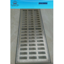 Grelha Pluvial 20x50 Com Aro - Aluminio ( Ralo Linear)