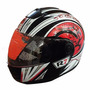 Casco Abatible R7 Racing R7-108 Dot M Ngo/bco/roj #3