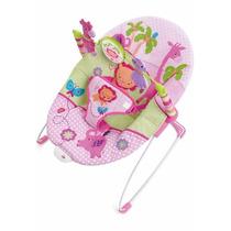 Cadeira Cadeirinha Bebê Descanso Vibratória Rosa Safari !