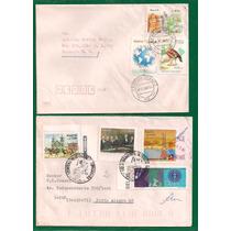 Brasil - Envelopes Circulados Porte Selos Comemorativos 1992