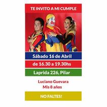 Invitaciones De Piñon Fijo Personalizadas